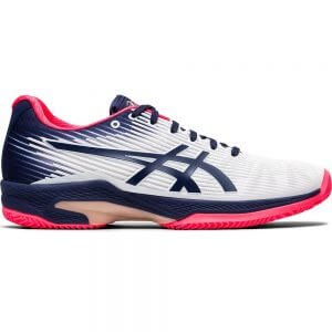 Asics Gel-Solution Speed FF (CC) Peacoat White Women's Tennis Shoes (US 6.5 Only)