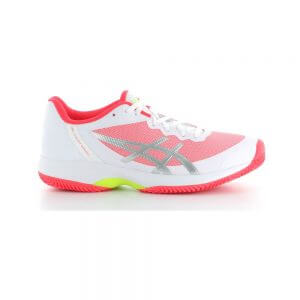 Asics Gel-Court Speed Clay White Laser Pink Women's Tennis Shoes (US 6.5 Only)