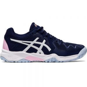 Asics Gel-Resolution 8 Peacoat Cotton Candy Junior Tennis Shoes