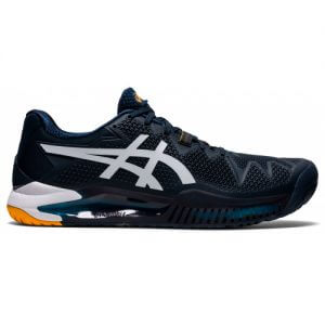 Asics Gel Resolution 8 HC French Blue White Tennis Shoes ( Size US 7 Only )
