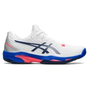 Asics Solution Speed FF 2 White/Peacoat Women's Tennis Shoes